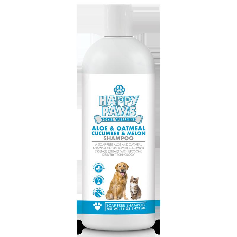 Happy paws   aloe and oatmeal shampoo 16oz