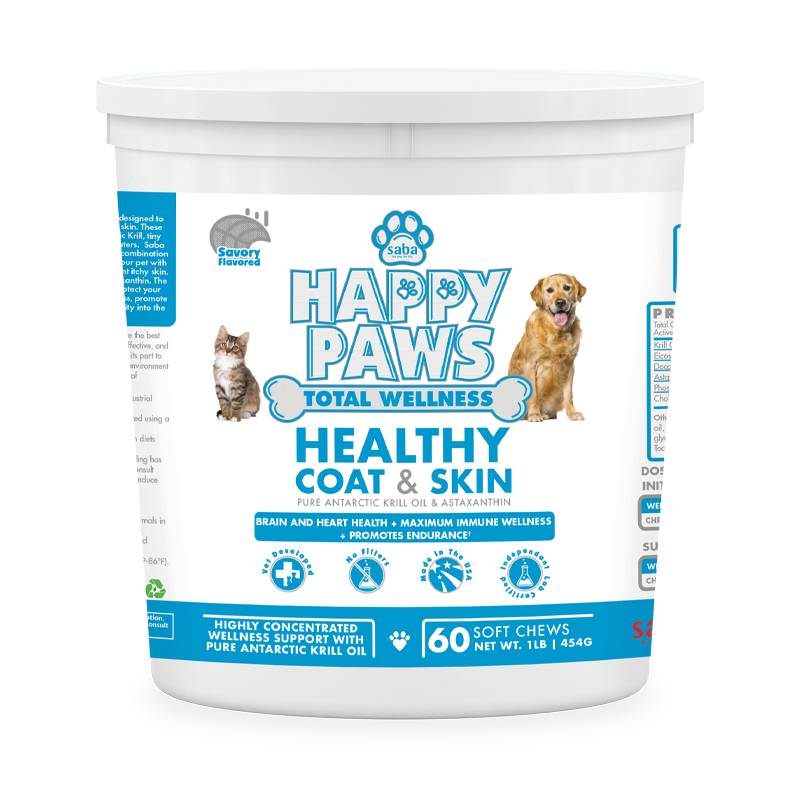 Happy paws healthy coat skin soft chew