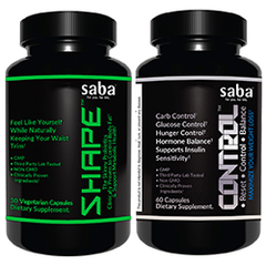 Saba CONTROL and Saba SHAPE Combo - One 60-count Bottle of Control + One 30-count Bottle of Shape