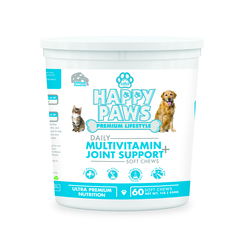 Saba Happy Paws Daily Multivitamin + Joint Support -60 Soft Chews