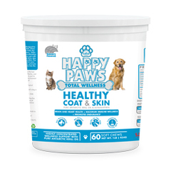 Saba Happy Paws Healthy Coat & Skin- 60 Soft Chews