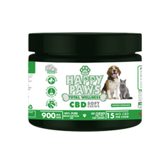 Saba Happy Paws Total Wellness CBD Soft Chews  -60 Chews
