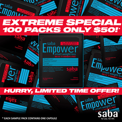 Saba Empower Smart Weight Loss EXTREME -100ct Sample Packs (1 capsule/pakc) Special