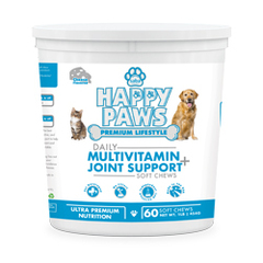 Saba Happy Paws Daily Multivitamin + Joint Support -60 Soft  Chews (UK)