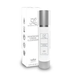 Saba lustre 4 oz white airless bottle silver renewing creme cleanser 250x250 2 %28002%29
