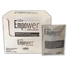 Saba Empower Coffee Creamer - One Box of 24 Single Servings