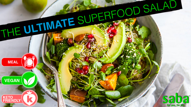 Ultimate superfood salad top