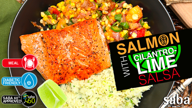 03  salmon with cilantro lime salsa top