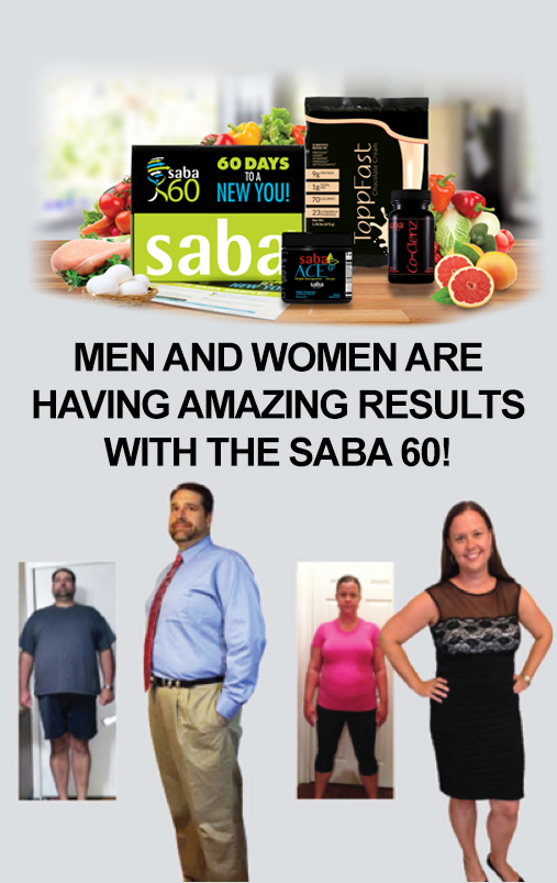 men and women amazing transformation after using Saba Sixty